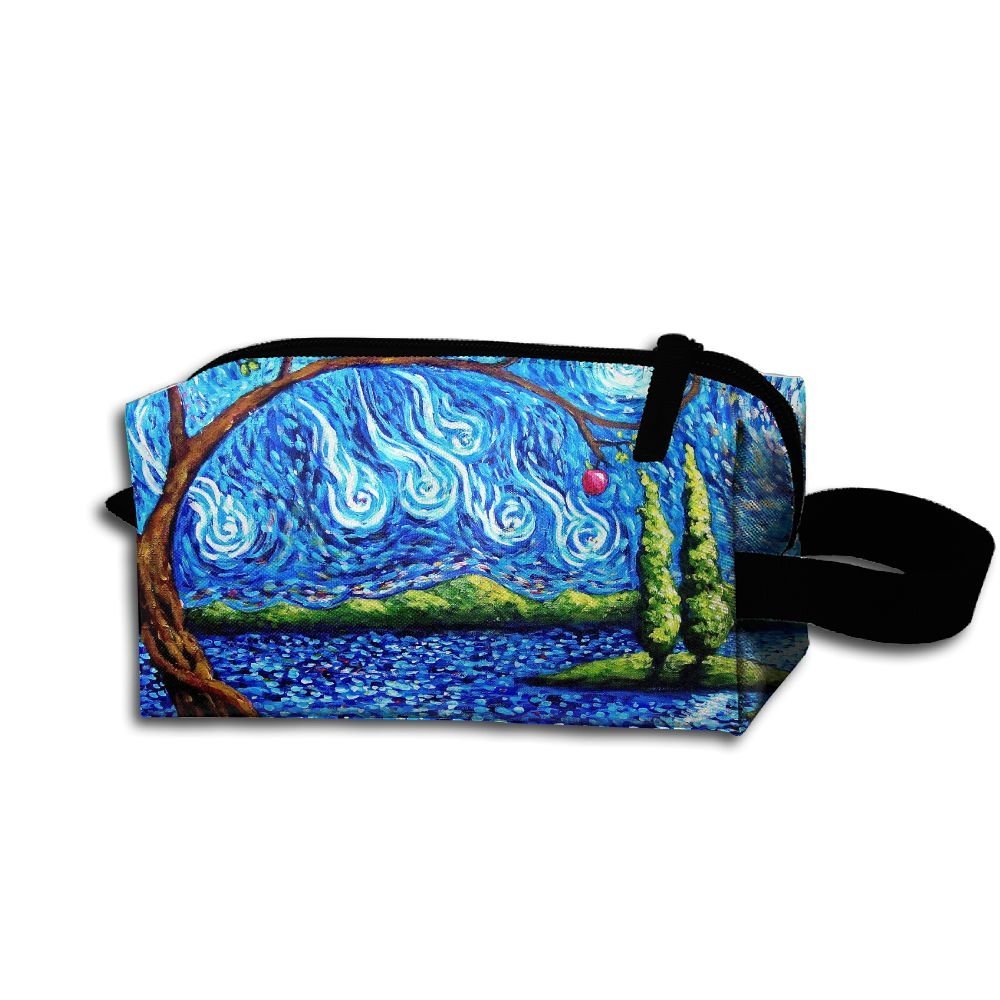 Makeup Cosmetic Bag Abstract Animals Tigers Digital Art Medicine Bag Zip Travel Portable Storage Pouch For Mens Womens