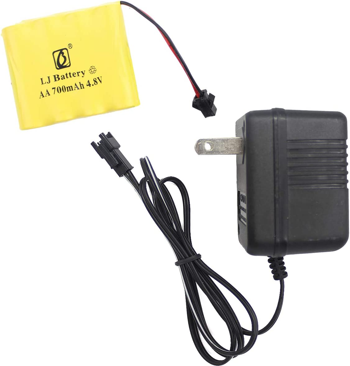 AA//AAA AC//DC 12v Charger with 8 of 4AA /& 4 AAA Hitech USA batteries.70/%OFF