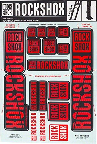- RockShox Decal Kit 35mm Dual Crown Red