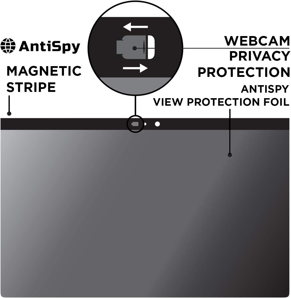 AntiSpy Privacy Screen incl. Camera Cover for MacBook Pro 13 inch | Magnetic Privacy Filter for Mac | 2016-2017 - 2018 – 2019-2020 | Apple Laptop Privacy Screen Protector – Anti-Glare Filters