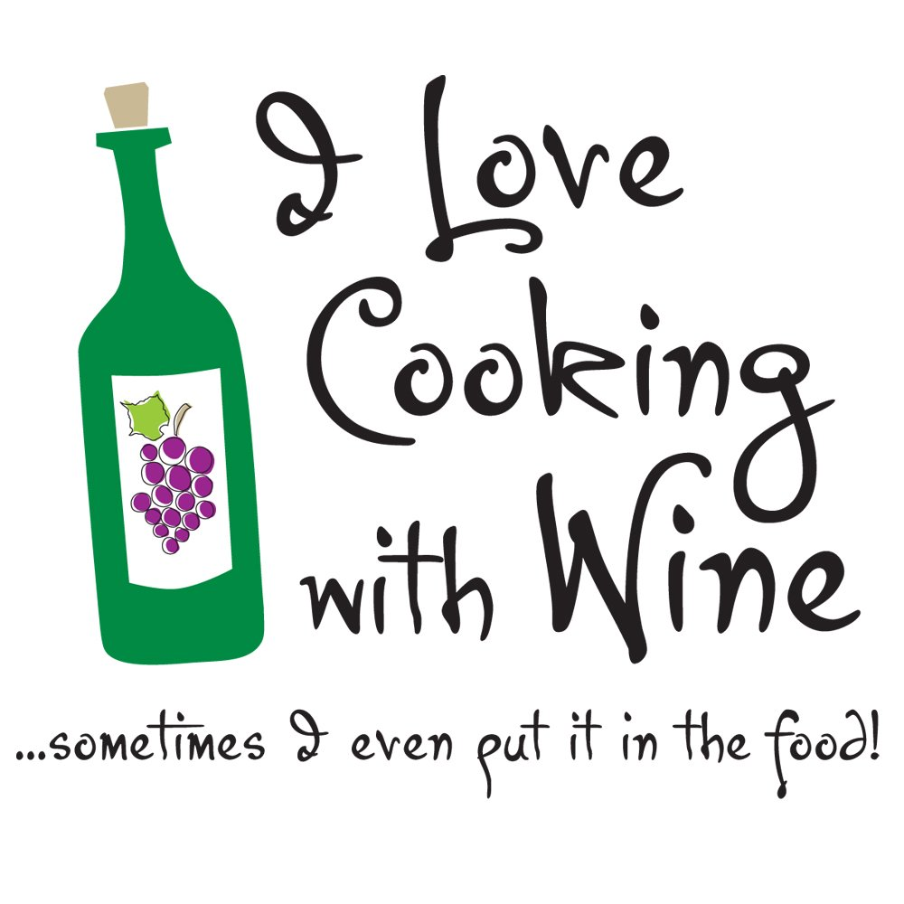 Attitude Aprons Fully Adjustable ''I Love Cooking with Wine'' Apron, Natural by Attitude Aprons (Image #2)