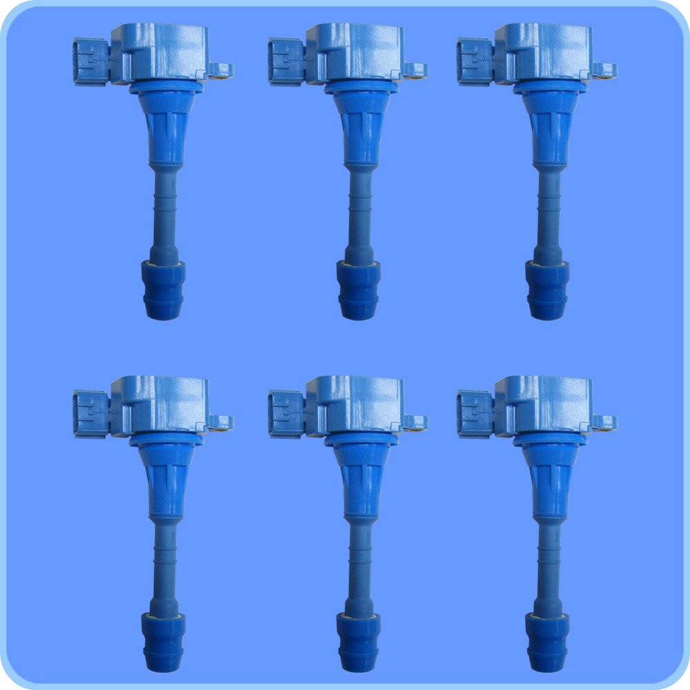 New Premium High Performance Ignition Coil Set (6) For Nissan Infiniti Suzuki by AD Auto Parts