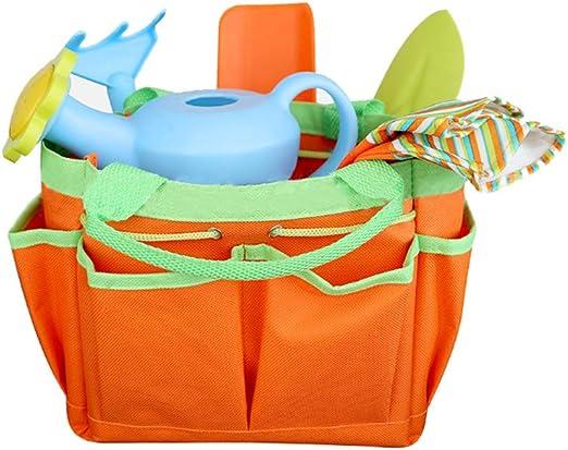 VIccoo Pala, 8 Piezas/Set Mini Herramienta de jardinería con Bolsa de Mano Guantes Palas Rastrillo Juguetes de jardín para niños: Amazon.es: Hogar