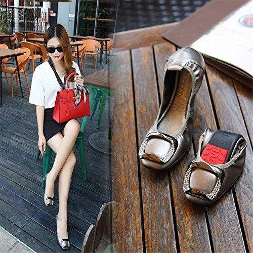 Femmes Chaussures HUAN Surface pour Printemps Fond Été Confort D Microfibre Mocassin Doux Plat Doux Casual Appartements Mocassins dqffB5w