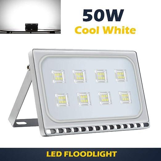 50W LED Foco proyector, Focos exterior de luz blanca fría, focos ...