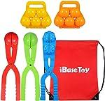 iBaseToy Snowball Maker Toys, 5 Pack Kids Small Snowman Maker Kit,