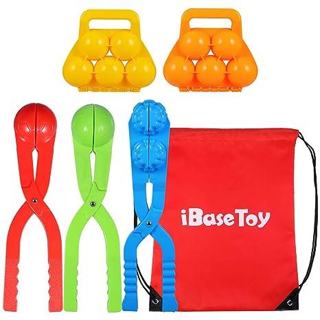 iBaseToy - Juego de 5 muñecos de Nieve pequeños para Hacer Bolas ...