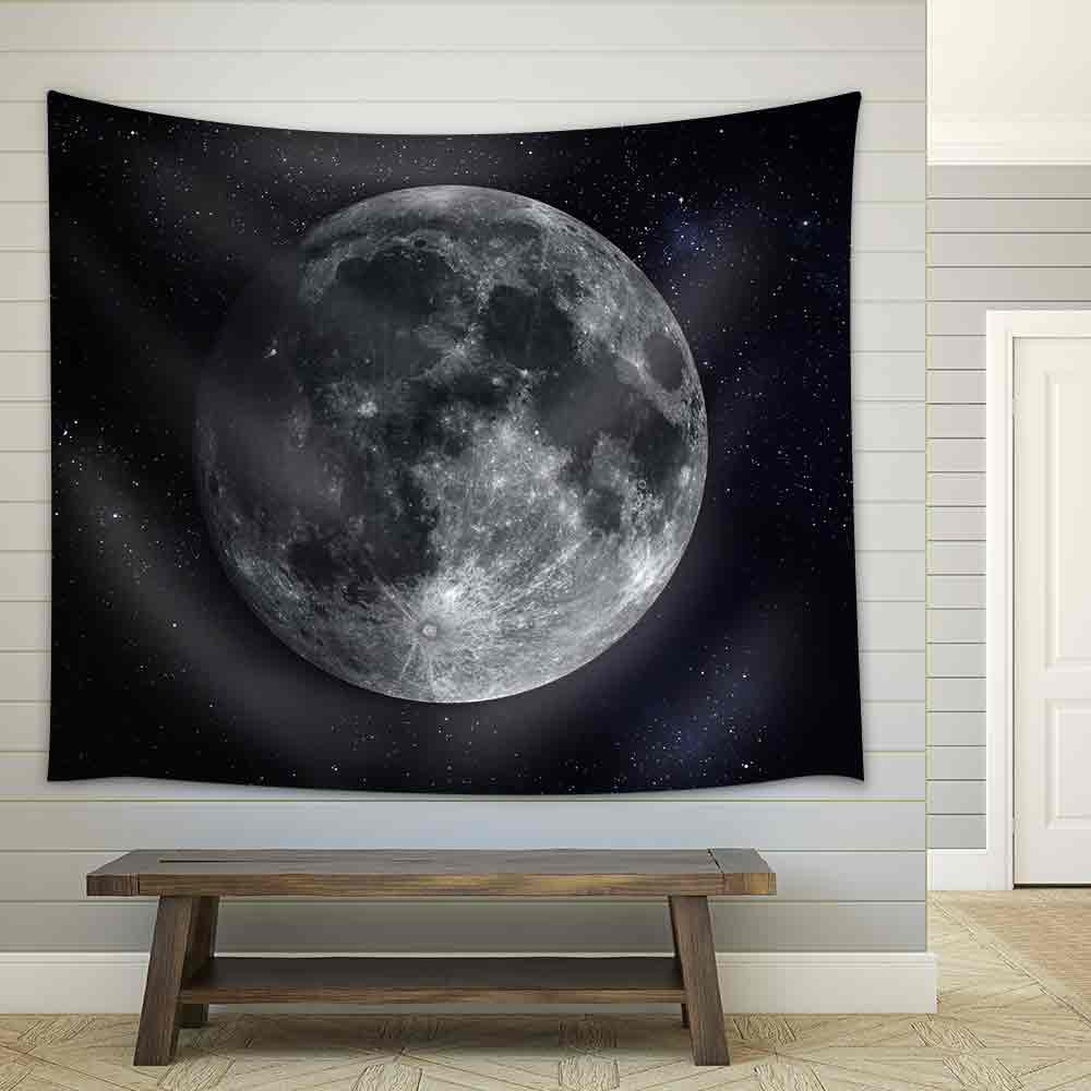 wall26 - Solar System - Planet Moon. - Fabric Wall Tapestry Home Decor - 51x60 inches