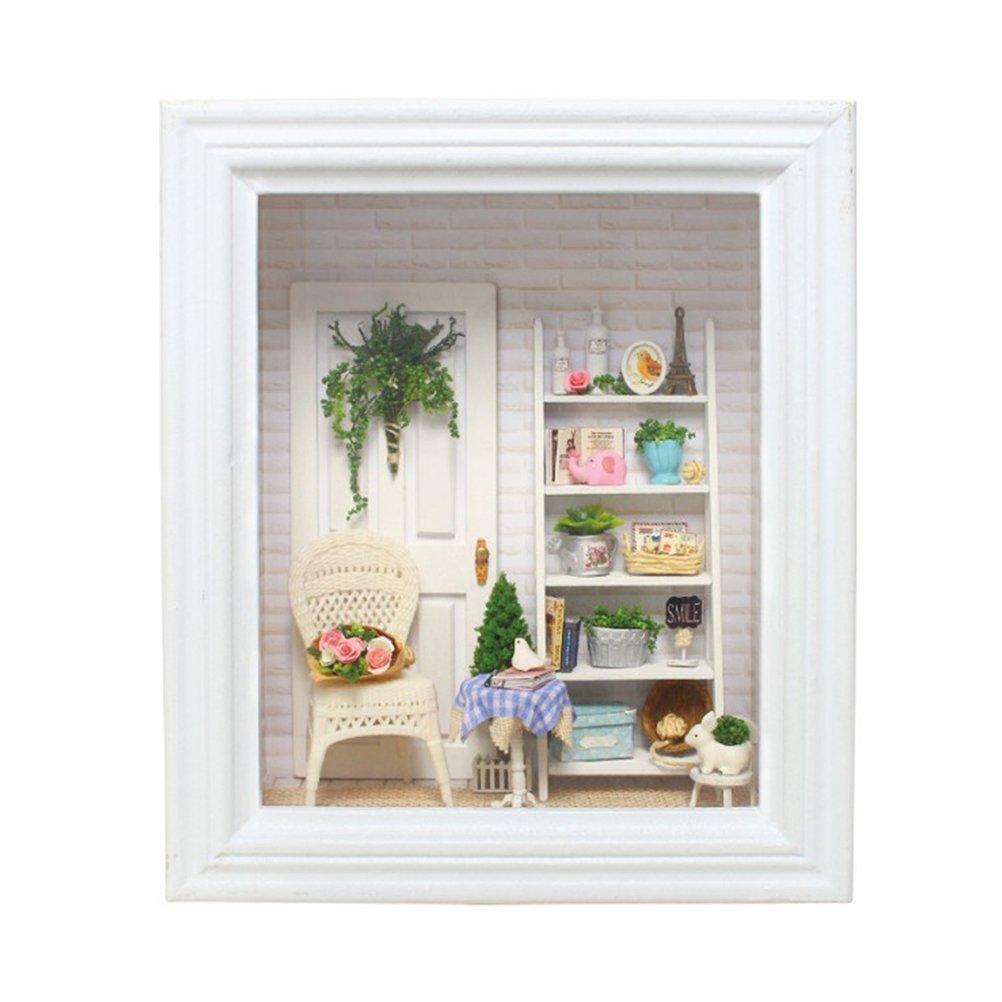 TOYMYTOY Miniatur Holz Puppenhaus Dollhouse DIY Kit mit Möbel ...