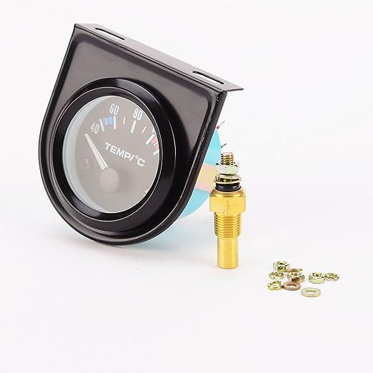 Amazon.es: 52mm Termómetro Indicador Digital Eléctrico del Sensor de Temperatura del Agua del Motor para Coche