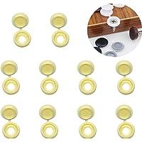 YouU 50 Tapas de Plástico con Bisagras para Tornillos, Tapas Abatibles para Arandelas, 5 colores a elegir: beige, gris…
