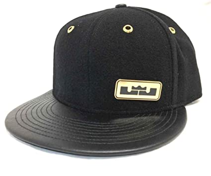 fb1d24861c7 ... reduced nike lebron elite true wool satin panel leather brim strap back adjustable  hat court cap