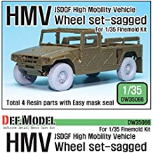 DEF Model 1:35 JSDGF HMV Sagged Wheel set for Finemolds #DW35066