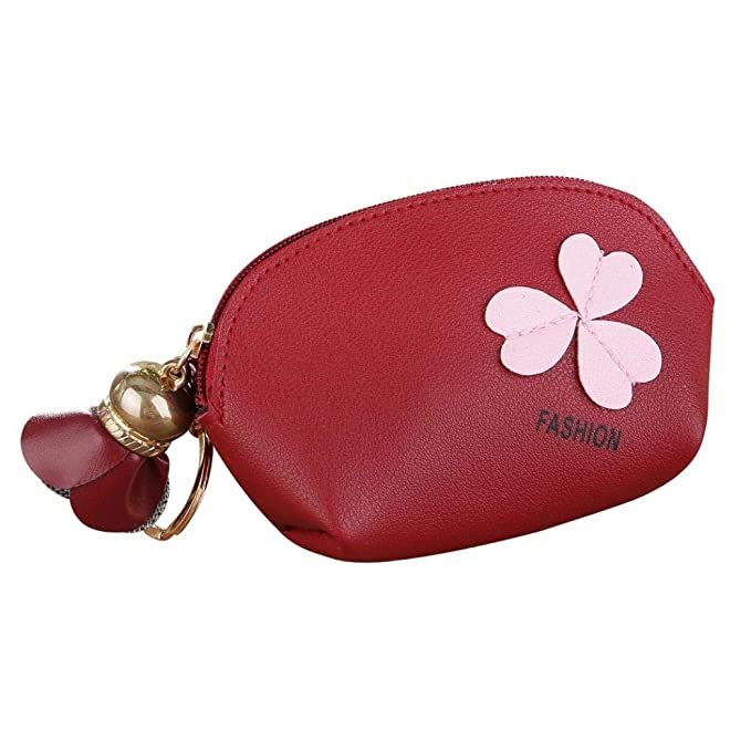 6188abfaa570 TLoowy Clearance! Women Girls Exquisite Floral PU Leather Zipper Coin Purse  Change Cash Bag Small Purse Wallets