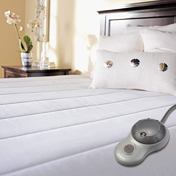 Sunbeam Heated Mattress Pad | Quilted Polyester, 10 Heat Settings, Twin