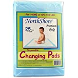 NorthShore Premium Changing Pads, Blue 8 oz., 17x24 in., Case/100 (4/25s)