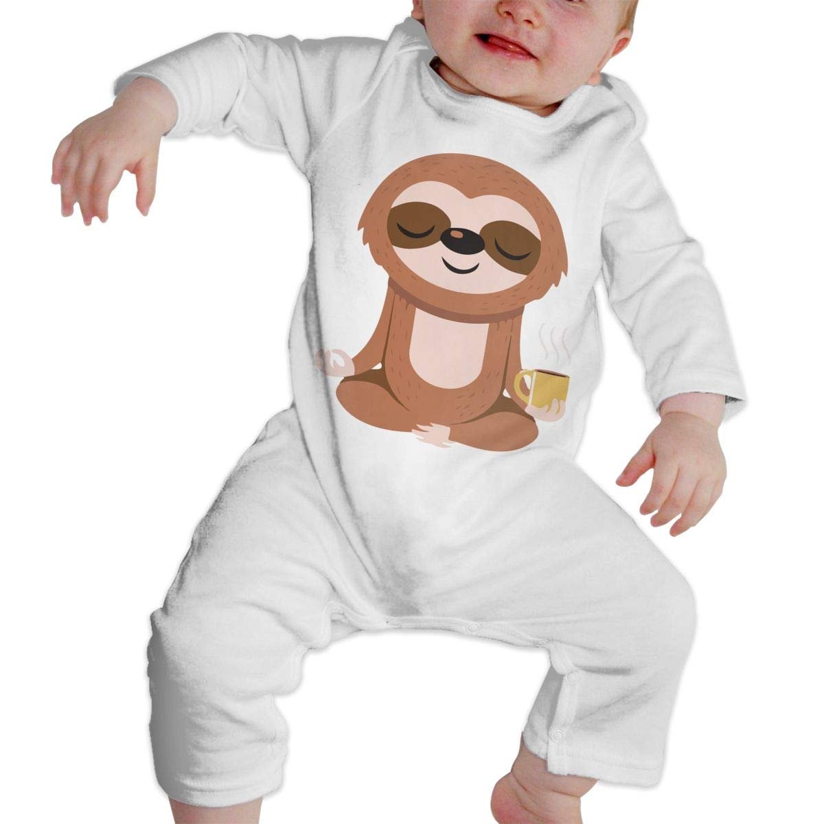 A1BY-5US Baby Infant Toddler Cotton Long Sleeve Yoga Sloth Climb Jumpsuit One-Piece Romper Clothes