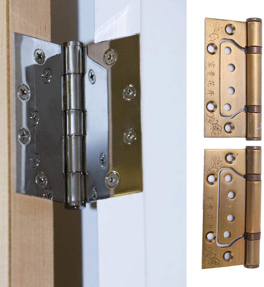 Ancient Yellow 4pcs Mute Manganese Steel Door Safety Chain Hinge Door Hardware Tool Household Furniture for Hotel Door Household Door Door Safety Chain