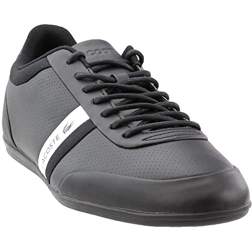 d84c9b859e2469 Lacoste Men s Storda 318 1 U Cam Black Leather Sneakers Shoes Black 7 M US   Buy Online at Low Prices in India - Amazon.in