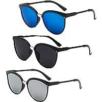 beifon 3Pcs Gafas de Sol Polarizadas Hombre Mujer Retro Gafas de Sol Unisex Redondos…