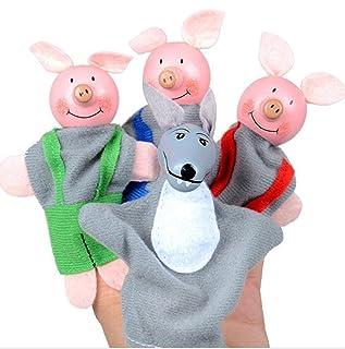 YOIL Burattini da dito per bambini Giocattolo da dito Giocattolo da dito Bambola giocattolo da dito Bambola giocattolo da dito (Tre porcetti)
