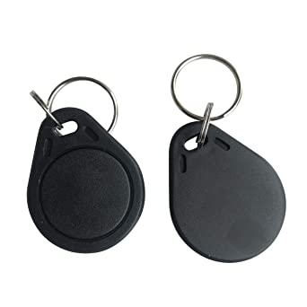 OBO Hands Access Control Waterproof ABS 13.56MHz Smart Mifare Classic 1K 14443A Package of 50 Keyfobs Grey