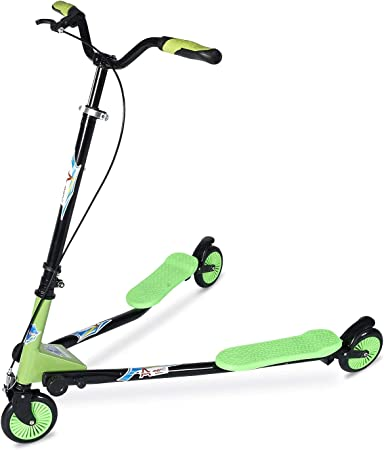 AODI Swing Scooter Adjustable 3 Wheels Foldable Wiggle Scooter Self Drifting for Kids/Adult Age 6 Years Old and Up