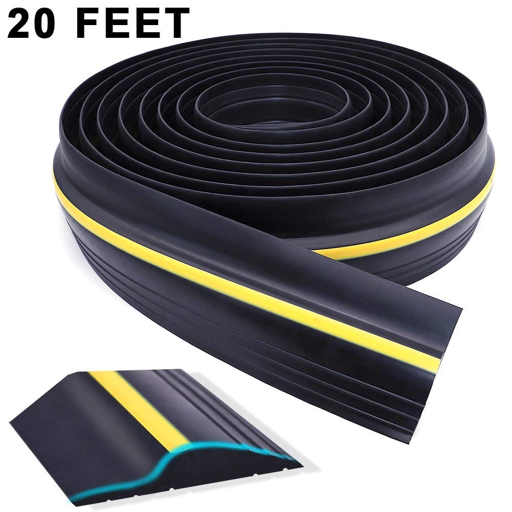 Universal Garage Door Threshold Seal, WEST BAY DIY Weather Stripping Bottom Rubber Waterproof 20 Feet Length (sealant not Included) by West Bay