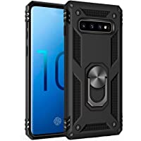 Samsung Galaxy S10 Case,Amuoc [ Military Grade ] 15ft. Drop Tested Protective Case | Kickstand | Compatible with Galaxy S10 (2019)-Black