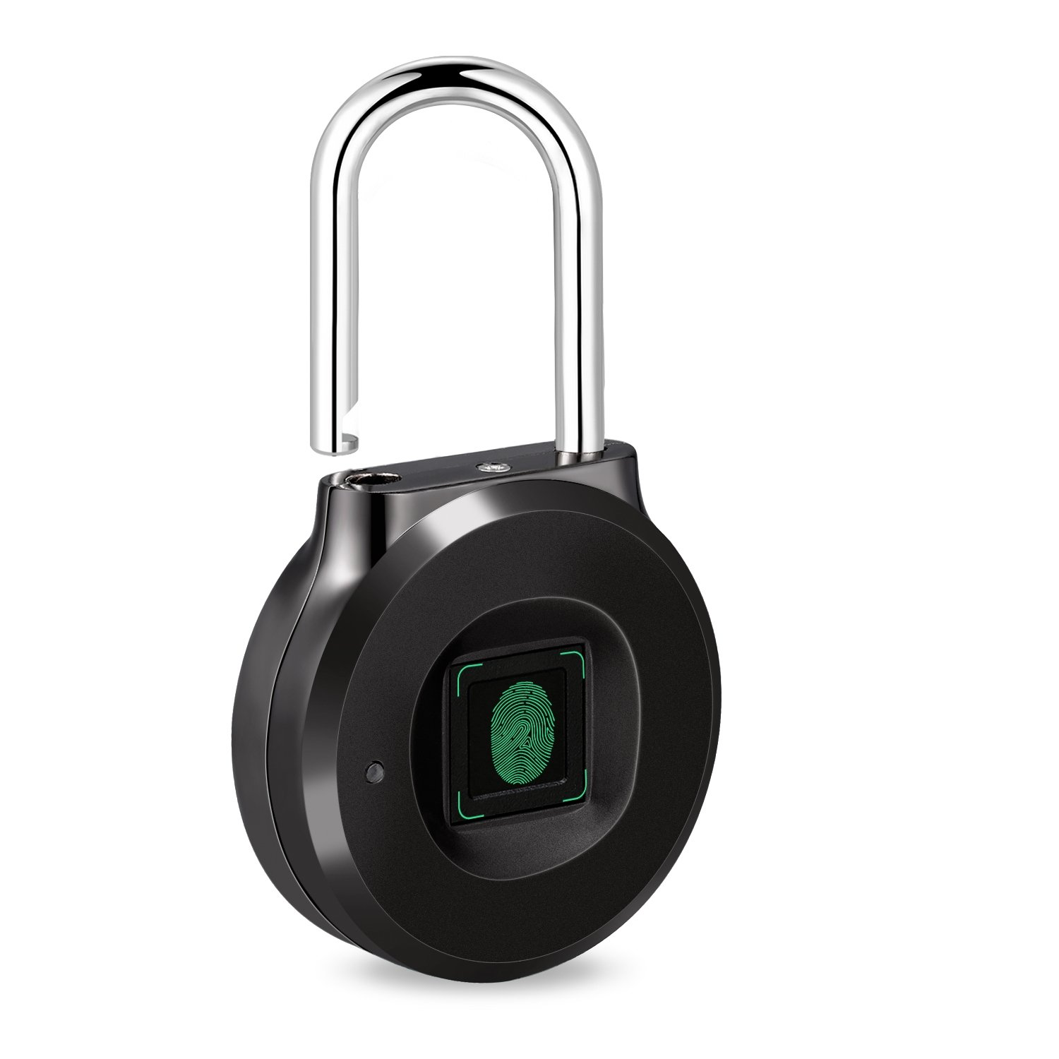 Uervoton Fingerprint Padlock, Smart Lock Ideal for School Locker, Duffel Bag, Shopping Carts, Suitcase, Gym Locker, Cabinet, Cupboard, Drawer and More Indoor Applications (Small)