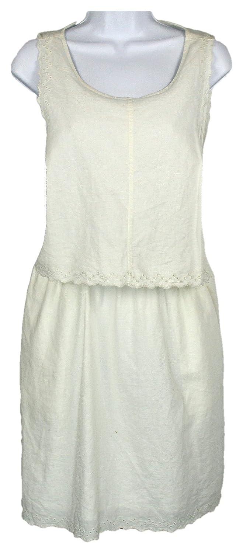 77ff31adc5b Amazon.com  J Crew Madewell Eyelet Open-Back Overlay Dress Style  C5814  White Size 12  Clothing