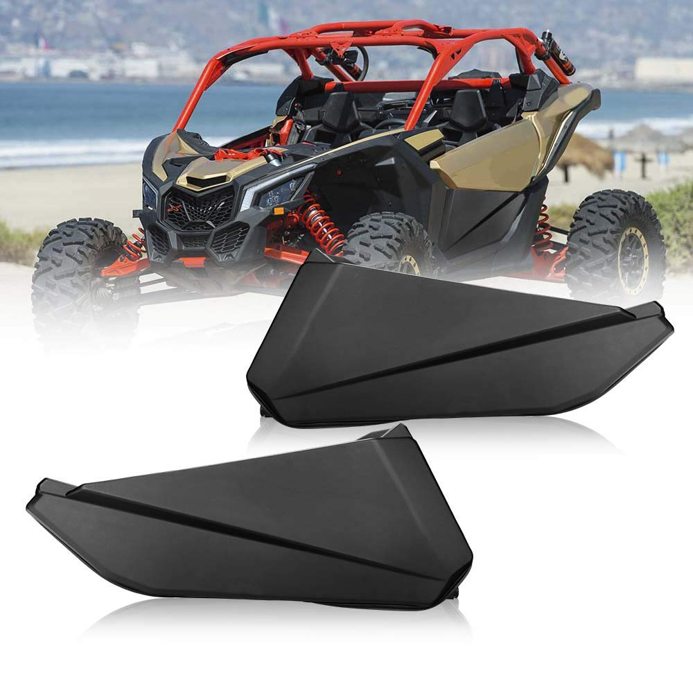 Lower Door Panel Inserts with Metal Frame OEM Style Works for 2017 2018 2019 2020 Can Am Maverick X3 (2 Doors) by kemimoto