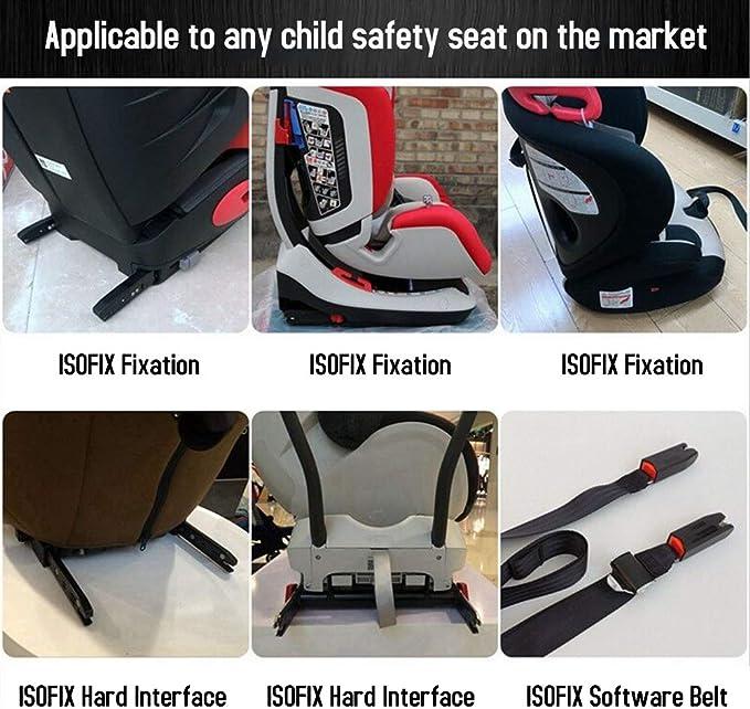 Vislone Universal Autositz Rückhalteanker Montagesatz Für Isofix Gürtelverbinder Auto