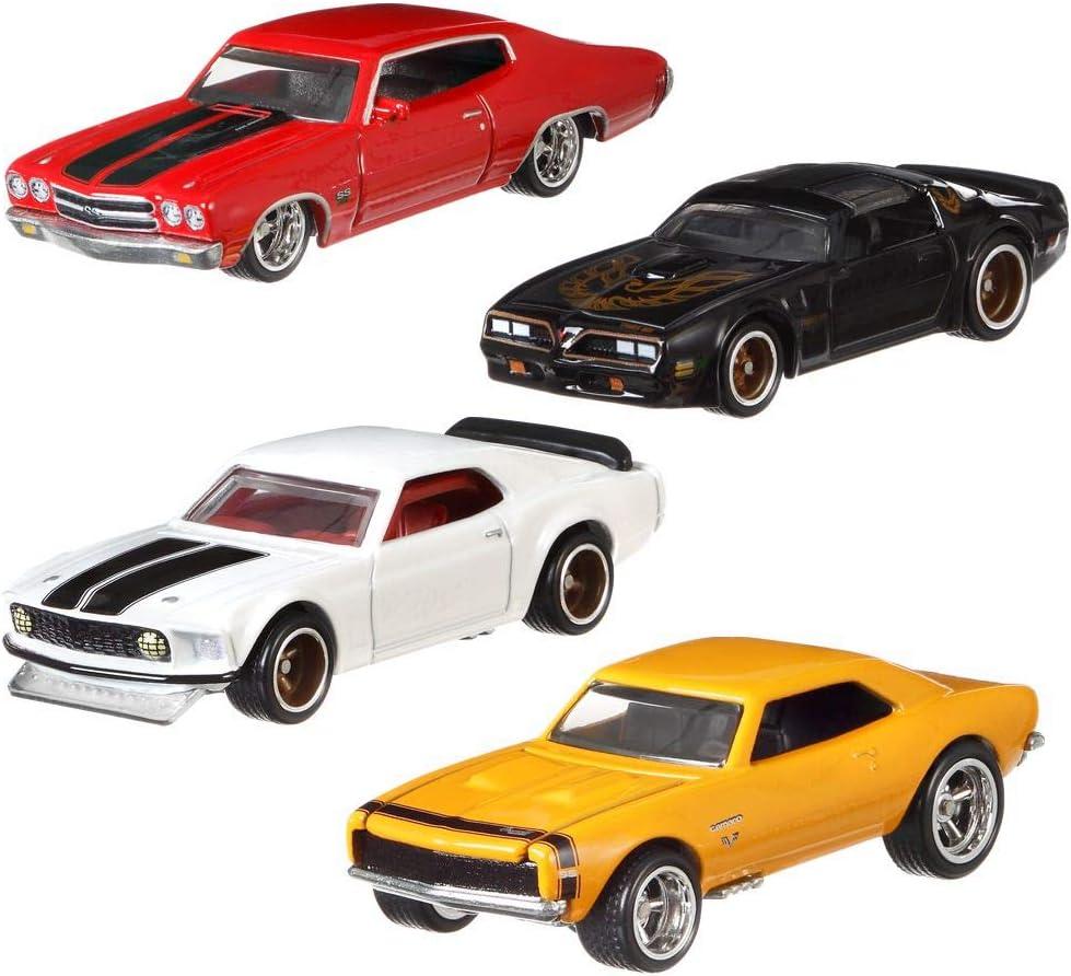 Hot Wheels Fast & Furious 1/4 Mile Muscle Premium Car Set | Coche Mattel GBW75, Vehículo:Conjunto de 4: Amazon.es: Juguetes y juegos