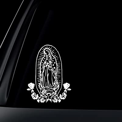 World Design Virgin Mary w/Flower Car Decal/Sticker: Automotive [5Bkhe1003319]