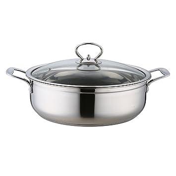 WJF Sopa olla estofado 304 de acero inoxidable con fondo grueso olla caliente hogar antiadherente utensilios ...