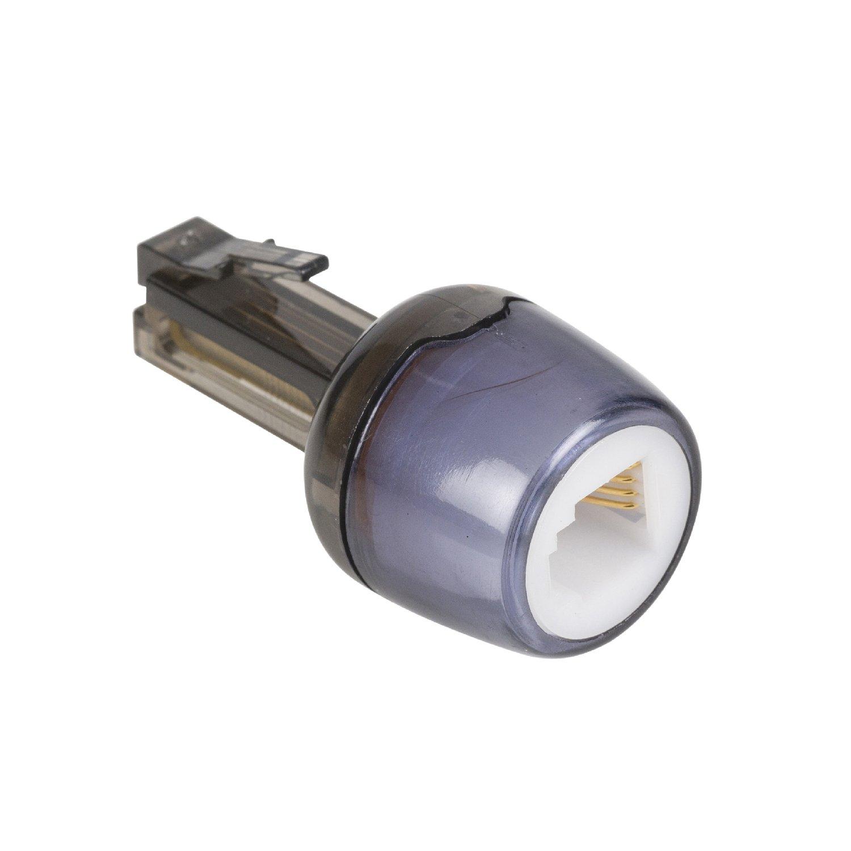 Conectores RJ10 Cable de tel/éfono en Espiral con Adaptador para Eliminar enredos se extiende Desde 30 cm hasta Aproximadamente 120 cm Blanco