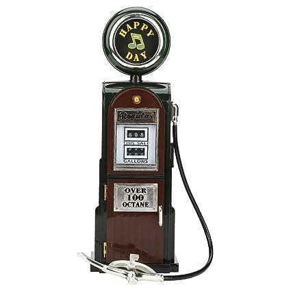 Hilitand Caja de música Vintage Retro EE. UU. Bomba de Gas Dispensador de Combustible
