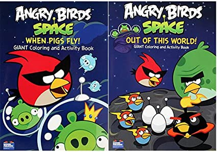 Amazon.com: Angry Birds Space Coloring Books [2-Pack]: Toys & Games