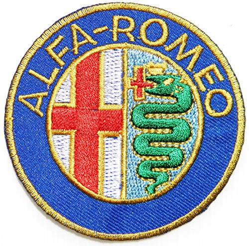 - ALFA ROMEO Sport Car Logo Sign Racing Car Patch Iron on Applique Embroidered T shirt Jacket BY SURAPAN