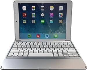 ZAGG Slim Book Ultrathin Case, Hinged with Detachable Backlit Bluetooth Keyboard for iPad Mini 2 / iPad mini 3 - White