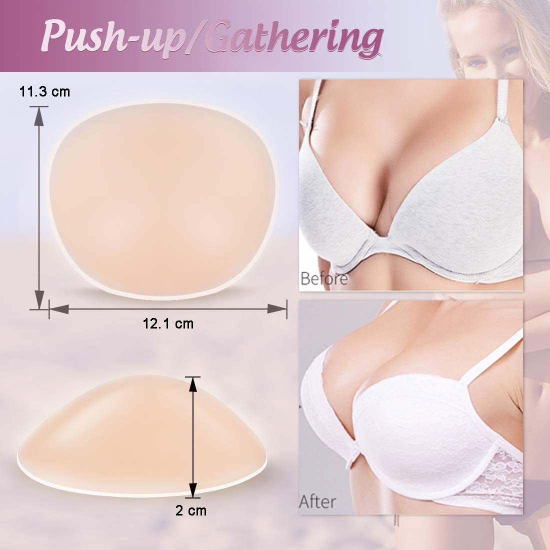 Push Up Breast Pads Bra Padding Bust Enhancer-Limited time Deal Windsleeping Silicone Bra Inserts