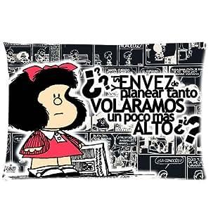 Cute Toda Mafalda Print Custom Cotton Pillowcase Two Sides 20*30 ID-74