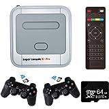 Super Console X PRO Consola de videojuegos Consola de juegos retro con 64 tarjetas incorporadas más de 33,000 juegos, consola