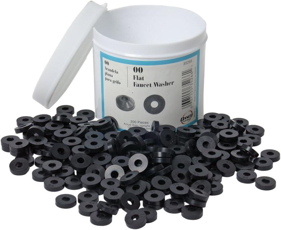 Danco 35266 00 1/2-Inch OD Flat Washer, Jar of 200