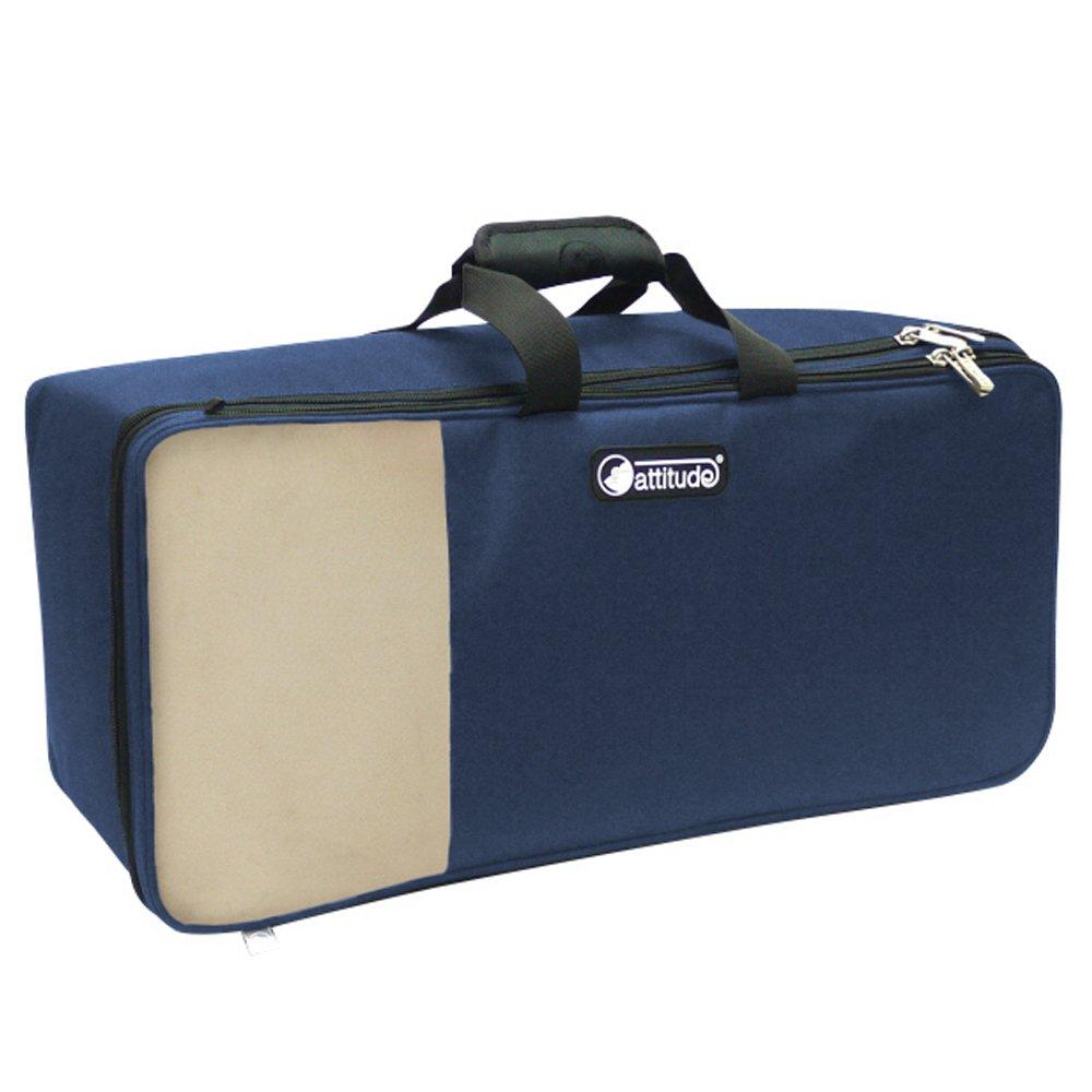Actitud dtp200402/doble trompeta Soft Case/ /Vintage Color Azul Marino