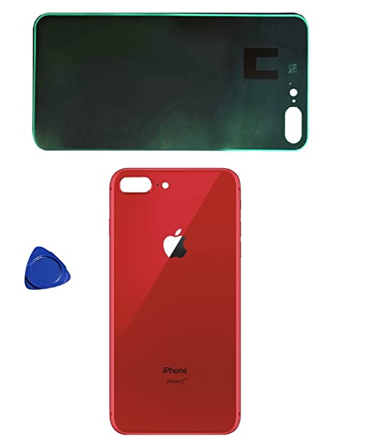 best service ce2d3 dfd83 Back Glass Cover OEM Battery Door Replacement w/Adhesive & Removal Tool for  Apple iPhone 8 Plus Limited Edition (RED)