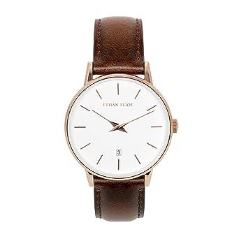 Amazon.com: Ethan Eliot Reloj clásico para hombre, mujer ...