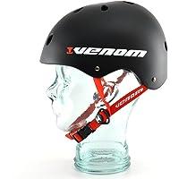 Venom Pro Casque de Skateboard Utilisation avec Skateboard/BMX/Scooter/Roller Skating–Noir