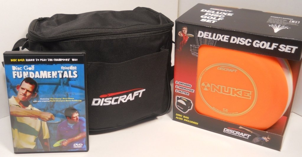Discraft Deluxe Disc Golf Gift Set - Black Bag